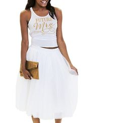 Long Bridal Skirt White Skirtsbachelorette Party Themesbride Sweatshirtdress