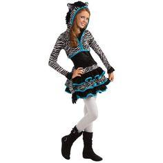 young girls cute zebra dress jacket tween animal kids halloween costume set s m - Walmart Costumes Halloween Kids