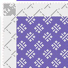 draft image: Figure 685, A Handbook of Weaves by G. H. Oelsner, 17S, 17T