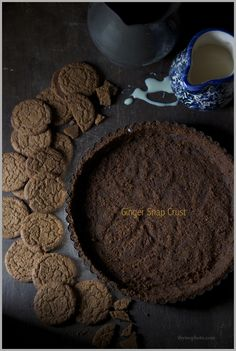 Ginger Snap Cookie Crust for Key Lime Pie