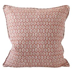 Walter G Wholesale Portal - AUS - Tapi Guava linen cushion 55x55cm Hand Printed Fabric, Printed Linen, Printing On Fabric, Artisan, Delicate, Cushions, Throw Pillows, Pattern, Model