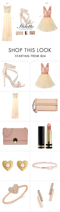 """""""StilettoGold"""" by lacasadellostile ❤ liked on Polyvore featuring Steve Madden, Notte by Marchesa, Adrianna Papell, Valentino, Vivienne Westwood, Gucci, Marc Jacobs, Catbird, Anne Sisteron and ZoÃ« Chicco"""