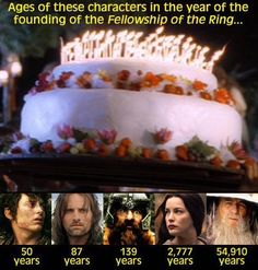 Ages in Lord of the Ring…seriously??? FRODO WAS 5O?!?!?!? :O
