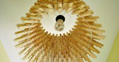 Shine A Light With This Easy DIY Clothespin Chandelier