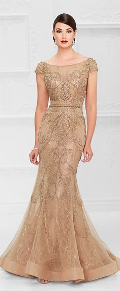 Chic Tulle & Lace Bateau Neckline Mermaid Mother Of The Bride Dresses With Beadings