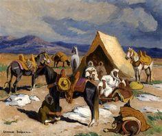 Campement arabe von Edouard Edmond Doigneau