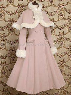 Lyserød sløjfe gentlewomen prinsesse Lolita Frakke