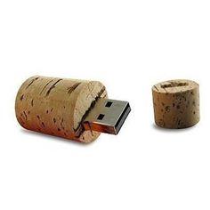 Wine bottle cork USB flash drive!