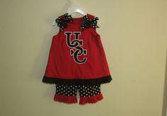 gamecock pillowcase dress   Red/Black Aline Dress with USC-gamecocks, football, baseball,team ...