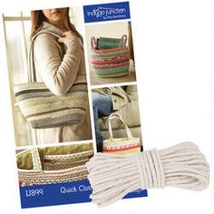 Quick Clothesline Carry-Alls Pattern and Cording- Create a spacious tote or sturdy basket using covered cord.
