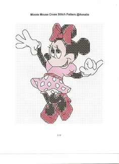 Disney's Minnie Mouse Cross Stitch Pattern. $4.00, via Etsy.