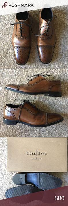 Cole Haan Wingtip Oxfords Cole Haan Air Madison Gordon Rush Wingtip Oxfords - dark brown, size 10 Cole Haan Shoes Oxfords & Derbys