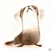 River Otter - Art Print by Melissa  Van Der Paardt