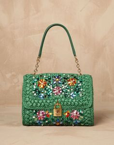 "New Cheap Bags. The location where building and construction meets style, beaded crochet is the act of using beads to decorate crocheted products. ""Crochet"" is derived fro Dolce And Gabbana Handbags, Dolce E Gabbana, Crochet Bracelet, Bead Crochet, Crochet Flower Patterns, Cheap Bags, Crochet Purses, Knitted Bags, Handmade Bags"