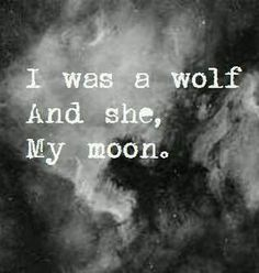 I was a wolf, and she my moon