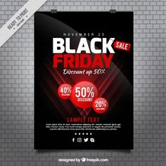 Poster of black friday in modern style  Free Vector