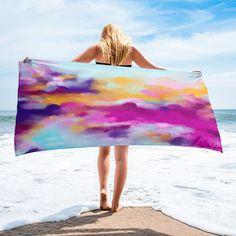 Vibrant Colours Unique Soft Beach Towel Multicolour Bathroom Gift Design Holiday Large