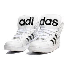adidas x Jeremy Scott - JS Instinct Hi White & Black // wishatl.com/...