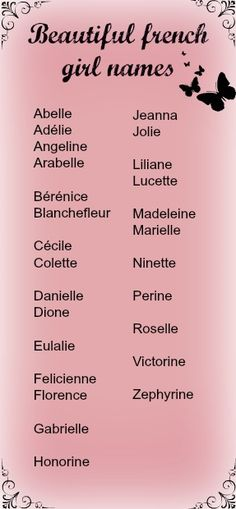 French baby names girls, girl names french, baby girl names, names for girls French Baby Names Girls, French Names, Cute Baby Names, Unique Baby Names, French Girls, Baby Girl Names, Boy Names, Baby Names And Meanings, Names With Meaning