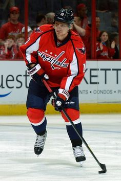 Martin Erat #10 of the Washington Capitals. (Former Pred)