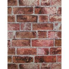 York Wallcoverings Brick Red Cement Gray Burgundy and Stone Strippable Vinyl Unpasted Textured Wallpaper