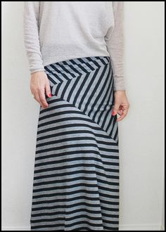 I continue my maxi/stripe obsession with an Ella Moss inspired maxi skirt...         Actually, I made another one last summer, but never go...