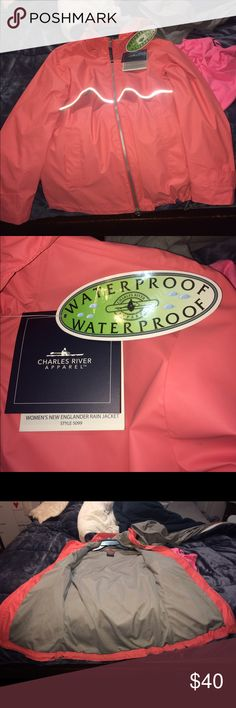 Charles River Rain Coat Never worn, NWT, perfect condition Charles River Jackets & Coats