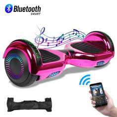 CBD Chrome Hoverboard for Kids, Bluetooth Self Balancing Hoverboard, Hoverboard with Bluetooth and LED Lights, UL 2272 Certified Hover Board Wireless Speakers, Bluetooth, Cute Backpacks, American Girl Clothes, Rubber Tires, Baby Store, Pink Love, Carry On Bag, Girly Things