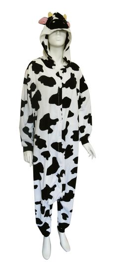 477df1ecc8 Spotted Cow Low Rider Hooded Onesie Pajama Moooove over
