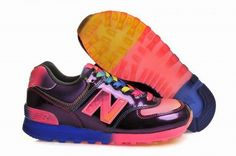 Joes New Balance ML574RAI Black Pink Purple Rainbow Mens Shoes