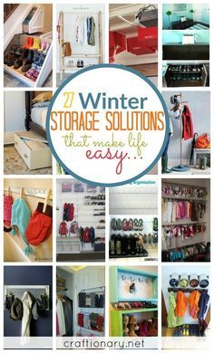 Winter storage solutions that will make it easy for kids and adults to access their belongings in no time!