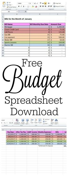 10 Free Excel Spreadsheet Templates To Help Explode Your Wealth - Download Budget Spreadsheet