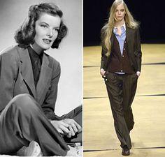 Katherine Hepburn Style - Fianchi stretti, gambe lunghe e spalle larghe: la donna mascolina di Paul Smith | Very Cool!