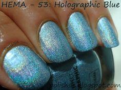 PolishSis: HEMA Holographic Blue