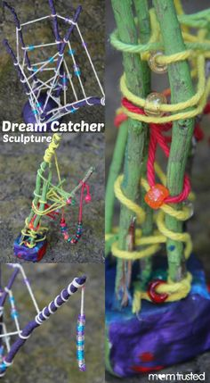 KID CRAFT:   Dream Catcher Sculptures!!