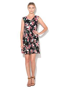 Fekete Virágmintás Ruha Megkötővel a Yumi márkától és további hasonló termékek a Fashion Days oldalán