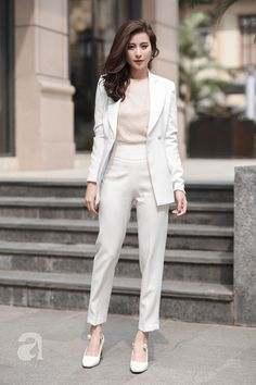 40 casual business style outfit for women's ideas - business professional outfits on a budget Office Fashion, Work Fashion, Trendy Fashion, Korean Fashion, Womens Fashion, Trendy Style, Women Business Fashion, Daily Fashion, Classy Style