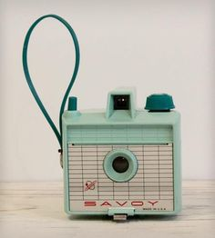 Vintage 1960s Savoy Camera in Mint Green