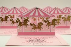 Pink and Gold Carousel invitations