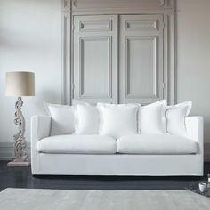 Divano lino bianco a 4 posti TROCADERO