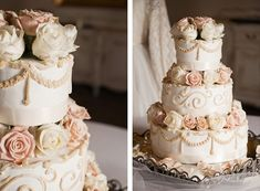 pink and white rose wedding cake White Roses Wedding, Wedding Cake Roses, Rose Wedding, Wedding Things, Garden Wedding, Floral Wedding, Summer Wedding, Wedding Stuff, Dream Wedding