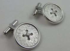 WEH Hayward Sterling Silver Cufflinks Button by LadyandLibrarian, $94.00