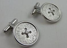 WEH Hayward Sterling Silver Cufflinks Button by LadyandLibrarian, $94.00