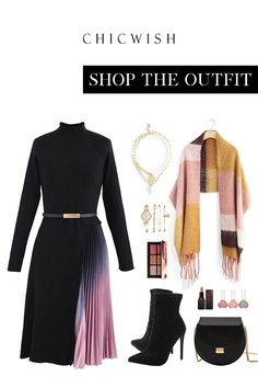 Winter Fashion Outfits, Chic Outfits, Fall Outfits, Urban Dresses, Complete Outfits, Work Attire, Look Cool, Knit Dress, Passion For Fashion
