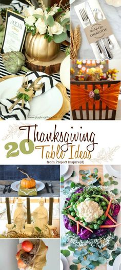 20 Thanksgiving Table Ideas