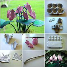 Egg Carton Craft – Delicate Flowers