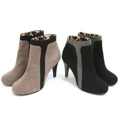 SARAH Two-Tone Ankle Boots PRICE  $94.50   #boots #shoe