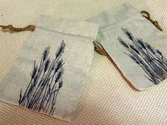 Set Of Two Natural Linen Gift Bags    Silhouette by aunaturelle, $9.00