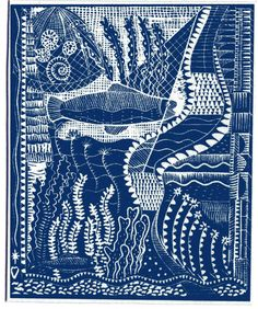 Under the Sea cyanotype print  www.fish-and-ships.com
