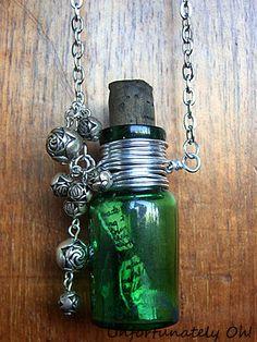 easy DIY bottle necklace tutorial